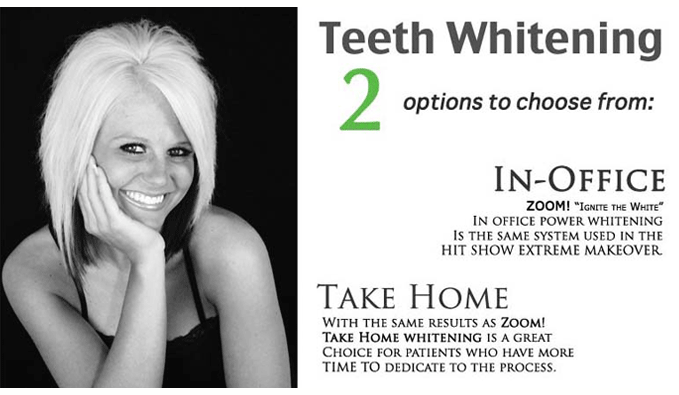 VA teeth whitening offer